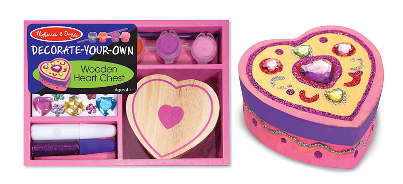 Wooden Heart Chest - DYO Valentine's Day Arts and Crafts