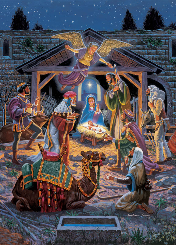 Holy Night Angels Jigsaw Puzzle