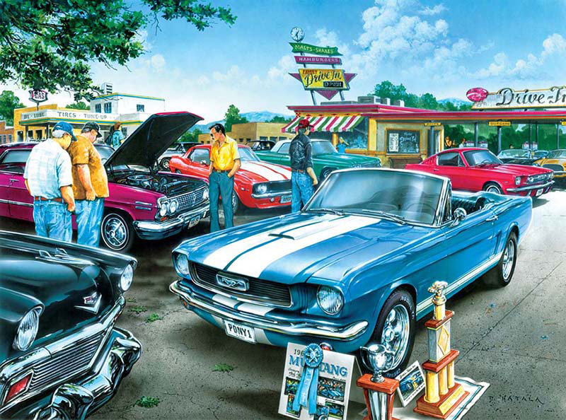 Classics - Top Prize Cars Jigsaw Puzzle