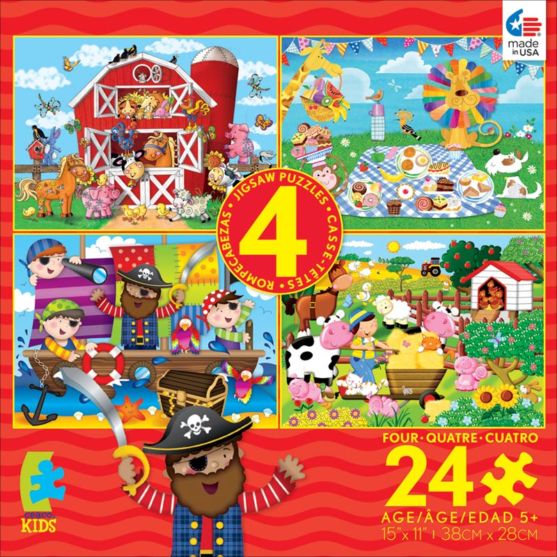 4-in-1 Puzzle Pack (Farm) - Scratch and Dent Farm Jigsaw Puzzle