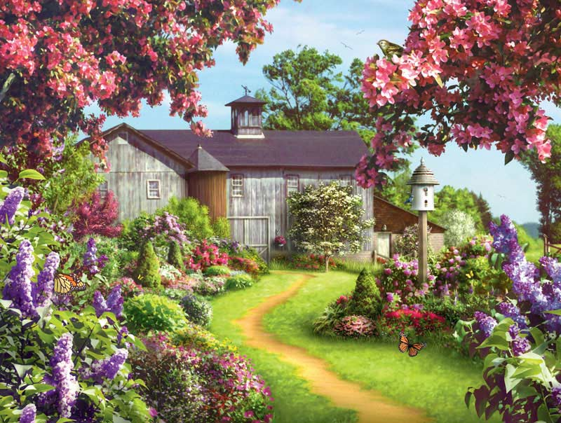 Memory Lane - On a Clear Day Flowers Jigsaw Puzzle