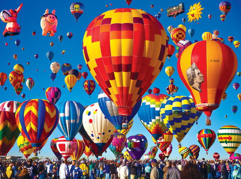 Masters of Photography Space Savers - Hot Air Balloon Race Balloons Jigsaw Puzzle