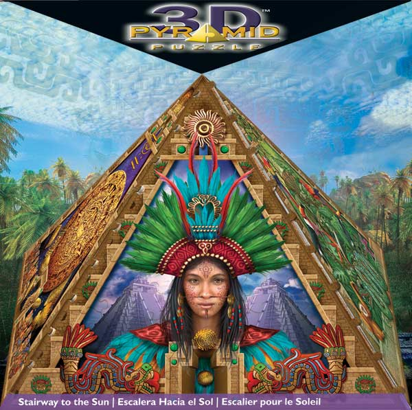 3D Pyramid - Stairway to the Sun History 3D Puzzle