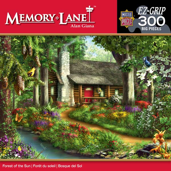 Memory Lane - Forest of the Sun Garden Jigsaw Puzzle
