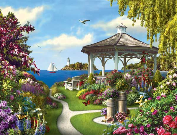 Memory Lane - This Dreamtime Day Garden Jigsaw Puzzle