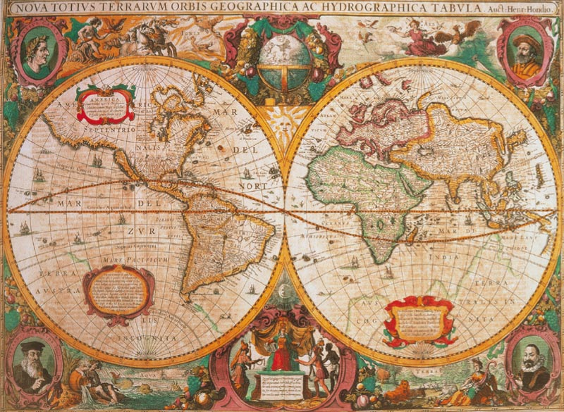 Old Map Graphics / Illustration Jigsaw Puzzle