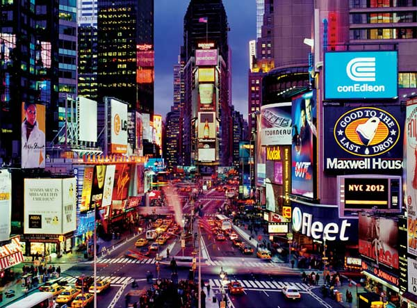 Masters of Photography Space Savers - Times Square New York Jigsaw Puzzle