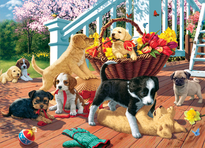 Hidden Images - Play Date Dogs Jigsaw Puzzle