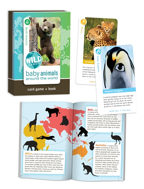 Wild Cards: Baby Animals Trivia Games Card Game