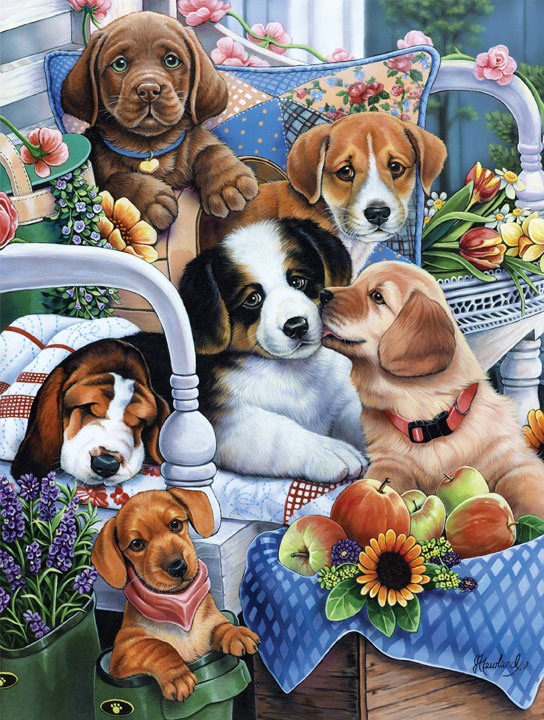Playful Paws - Gardening Buddies Dogs Jigsaw Puzzle