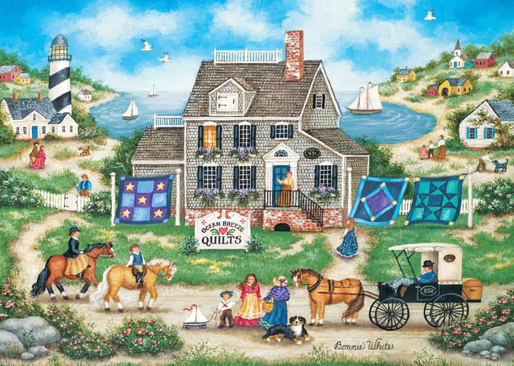 Heartland - Ocean Breeze Quilts Folk Art Jigsaw Puzzle