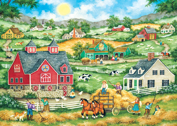 Heartland - Bringing in the Hay Countryside Jigsaw Puzzle