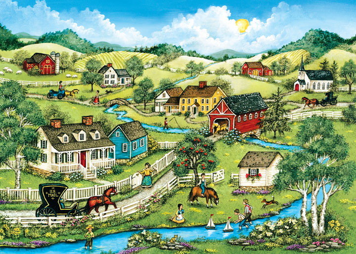 Heartland - Fishing, Sailing, and Catching Frogs Countryside Jigsaw Puzzle