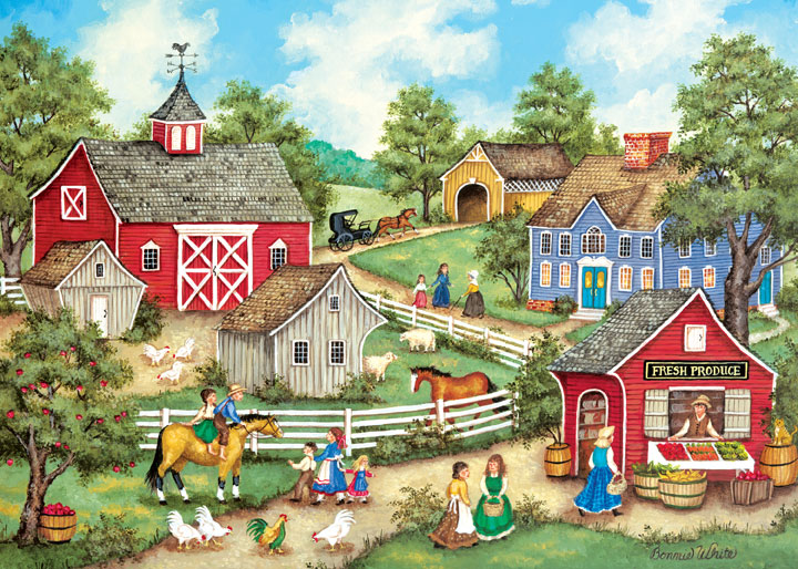 Heartland - Fresh Produce Countryside Jigsaw Puzzle