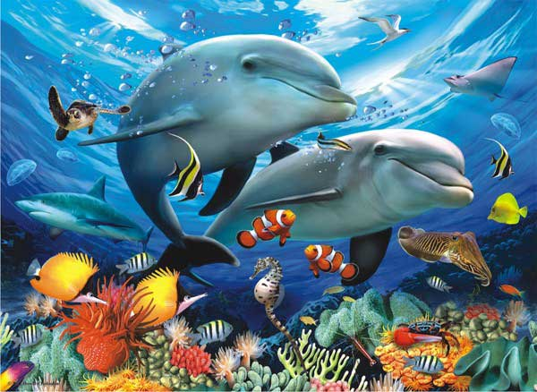Beneath the Waves - Scratch and Dent Under The Sea Jigsaw Puzzle