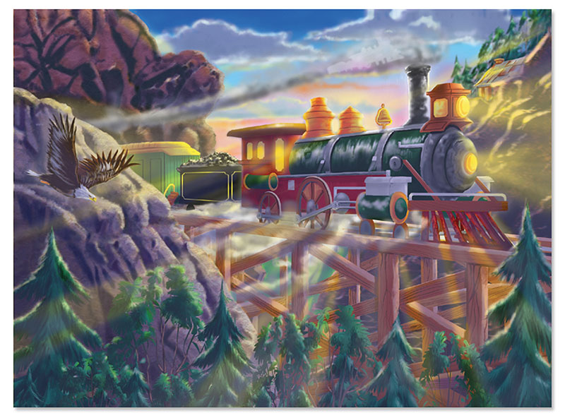 Eagle Canyon Railway Trains Children's Puzzles