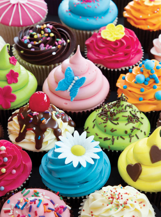 Sweet Shoppe Space Savers - Cupcake Creations Food and Drink Jigsaw Puzzle