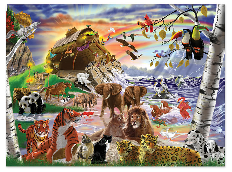 After the Flood Animals Jigsaw Puzzle
