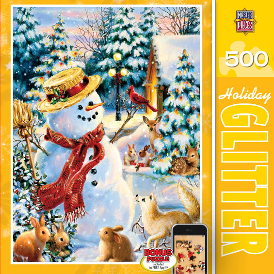 Holiday Party (Holiday Glitter) - Scratch and Dent Snowman Glitter / Shimmer / Foil Puzzles