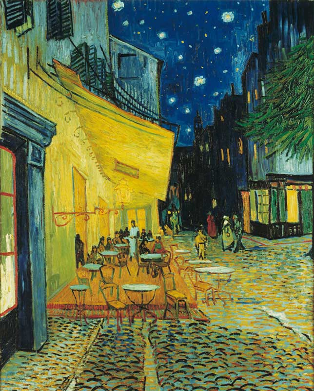 Terrace at Night Impressionism Jigsaw Puzzle