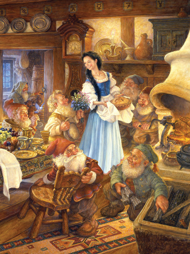 Snow White And The Seven Dwarfs Book Boxes Jigsaw Puzzle