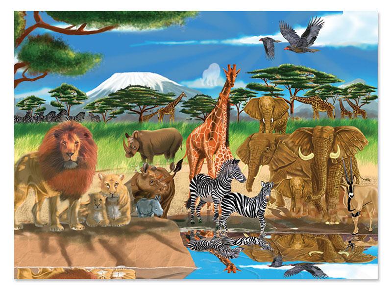 On the Savannah Lions Jigsaw Puzzle