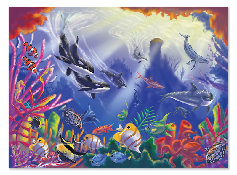 Majestic Depths Dolphins Jigsaw Puzzle