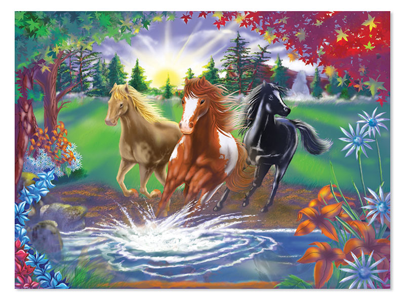 River Run Horses Children's Puzzles