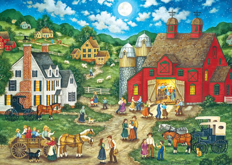 Friday Night Hoe Down (Heartland) Farm Jigsaw Puzzle