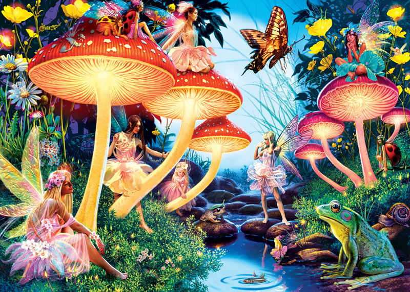 Toadstool Brook Hidden Images Puzzlewarehouse Com