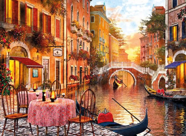 Venezia Boats Jigsaw Puzzle