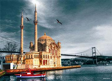 Ortakoy Mosque Cities Jigsaw Puzzle