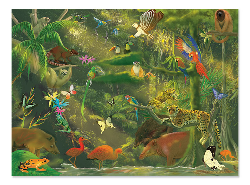 Beneath the Canopy Jungle Animals Children's Puzzles