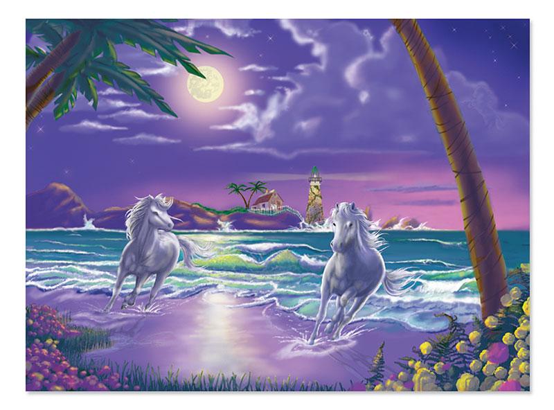Seaside Stallions Horses Jigsaw Puzzle