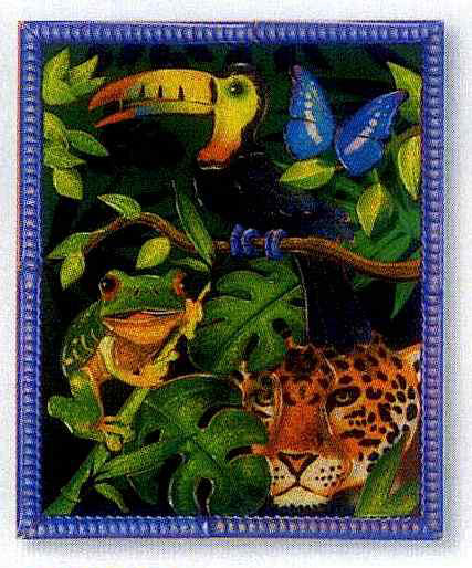 Peel and Press Mini - Rain Forest Jungle Animals