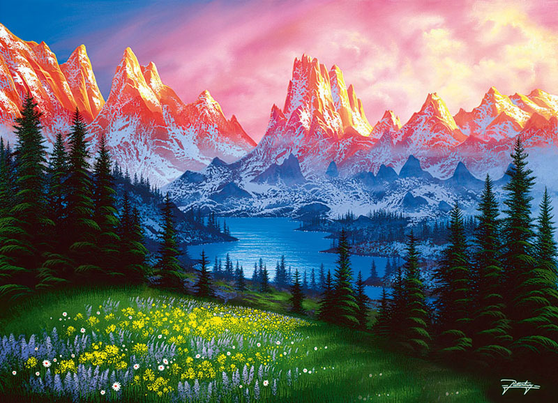 A Time to Dream Mountains Jigsaw Puzzle