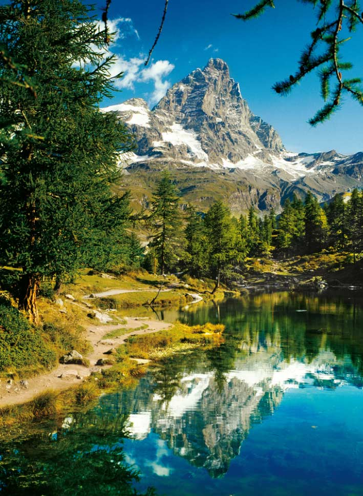 Matterhorn in the Mirror - Scratch and Dent Mountains Jigsaw Puzzle