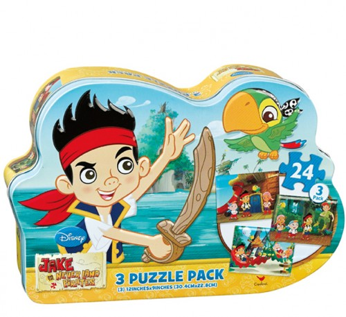 3 Puzzle Pack - Jake and the Neverland Pirates Cartoons Children's Puzzles
