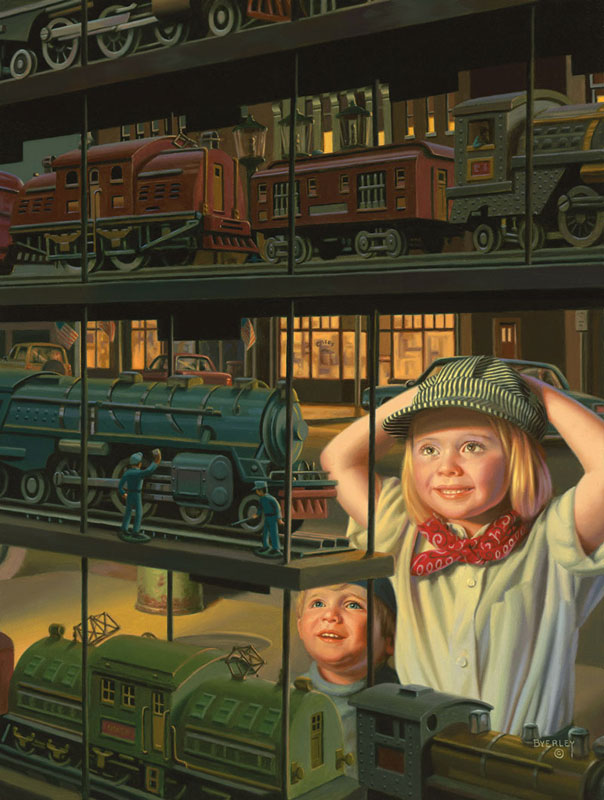 The Train Shop Window Trains Jigsaw Puzzle