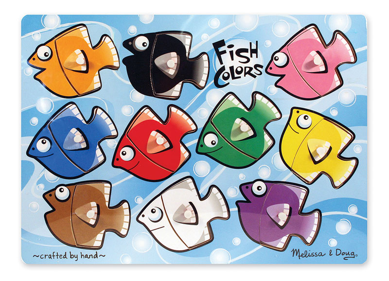Peg Puzzle - Fish Colors Mix 'n Match Fish Children's Puzzles