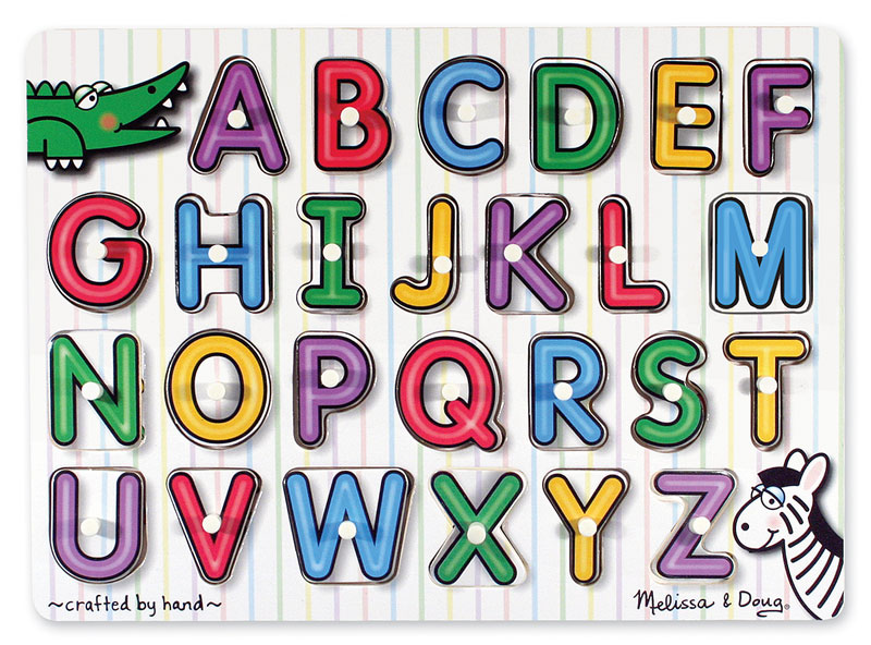 Peg Puzzle - See-Inside Alphabet Educational Children's Puzzles