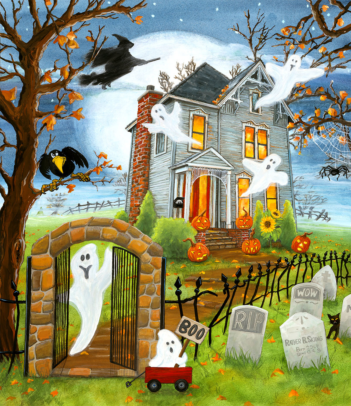 Haunted Haven Halloween Jigsaw Puzzle