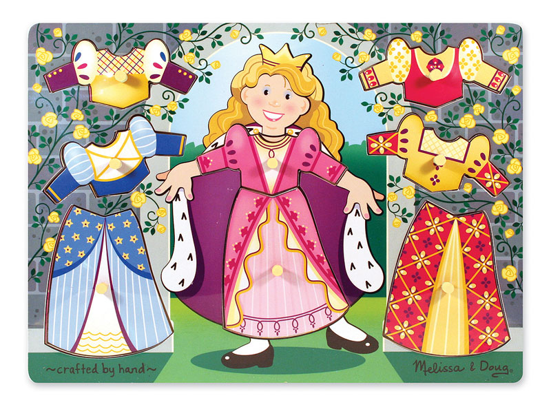Peg Puzzle - Princess Dress-Up Mix 'n Match Princess Children's Puzzles