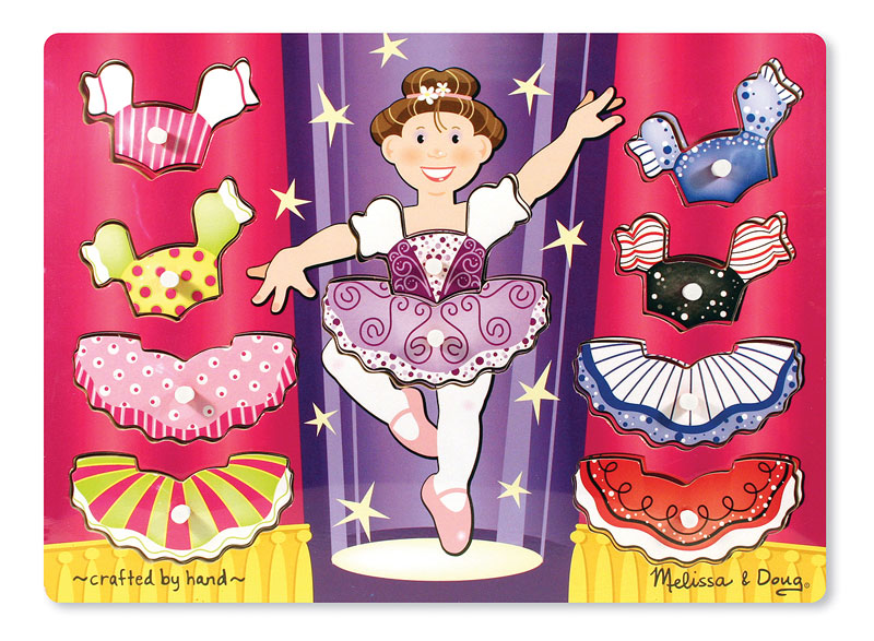 Peg Puzzle - Ballerina Dress-Up Mix 'n Match Dance Children's Puzzles