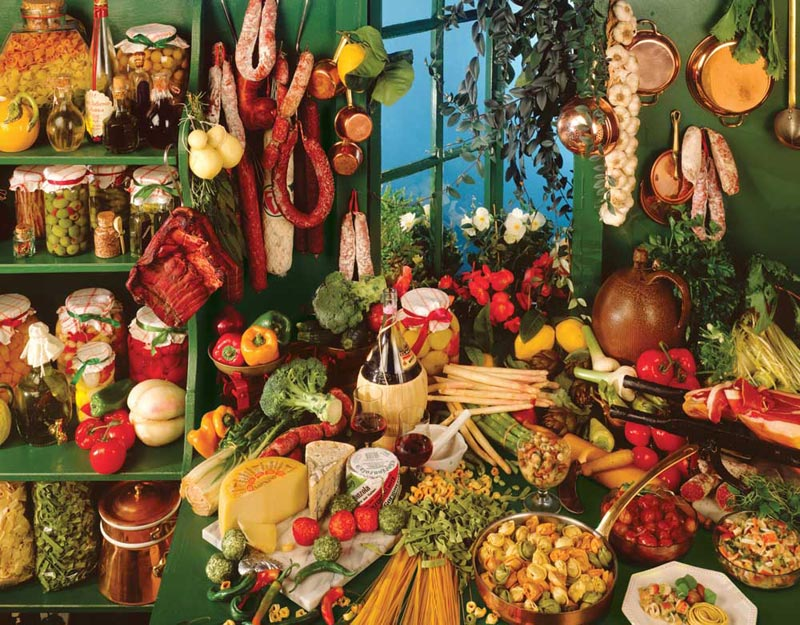 Italian Kitchen - Scratch and Dent Food and Drink Jigsaw Puzzle