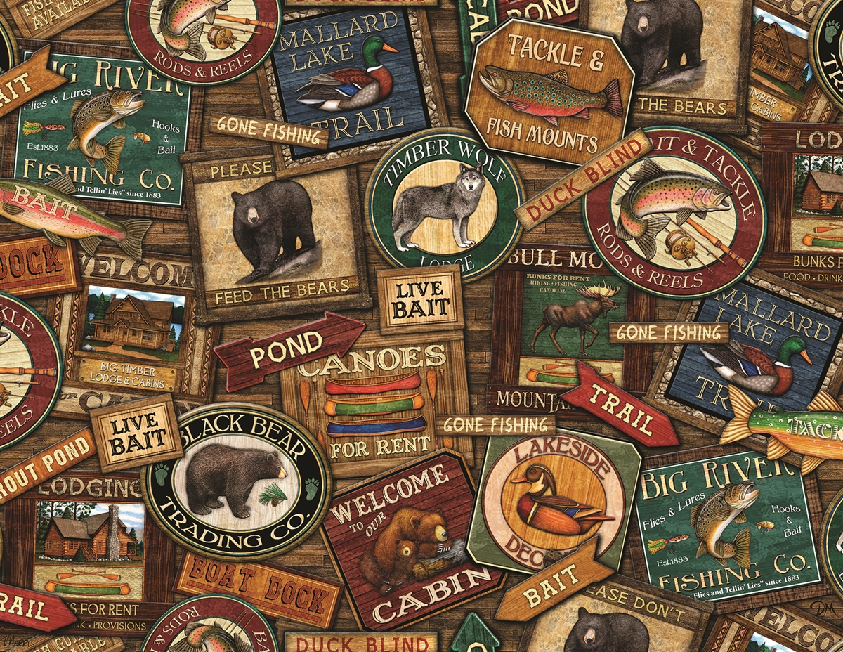 Lodge Signs Father's Day Jigsaw Puzzle