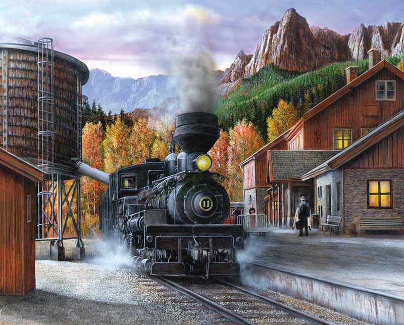 Mountain Express Mountains Jigsaw Puzzle