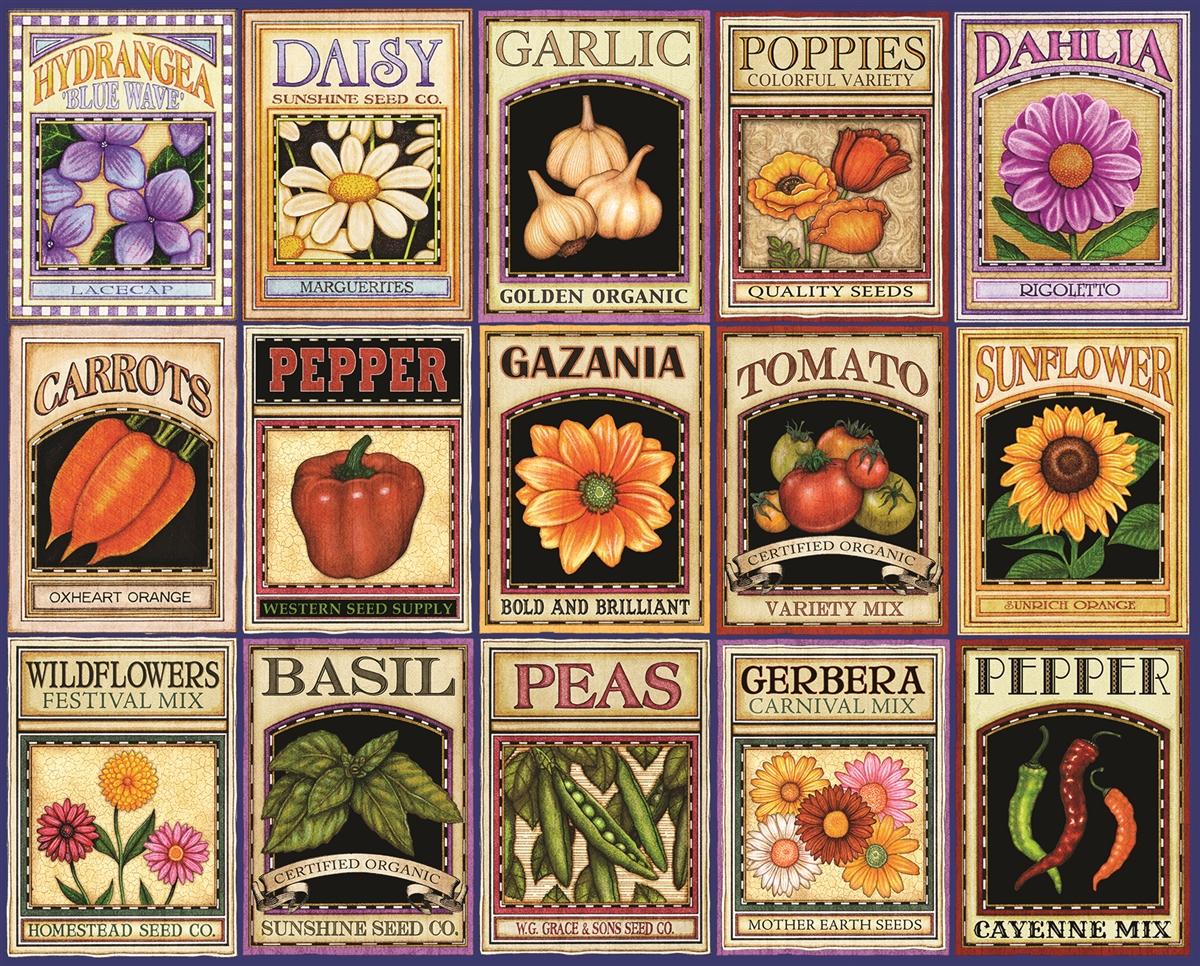 Garden Goodness Pattern / Assortment Jigsaw Puzzle