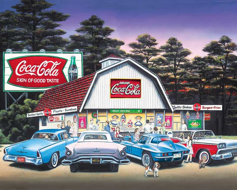 Night on the Town (Coca-Cola) Nostalgic / Retro Jigsaw Puzzle