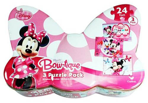 3 Puzzle Pack - Minnie Mouse Bow-tique Cartoons Children's Puzzles